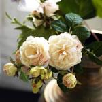 composition florale fleurs de soie printemps-été 2016 par SIA à la Boutique Sion de Libercourt