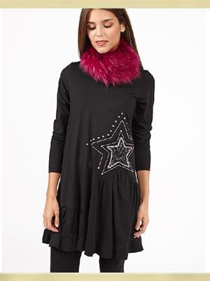 hiver-les-tendances-poupee-chic-robe-noire-protege-cou-fausse-fourrure