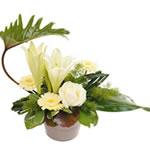 bouquet-rose-travail-feuillage--interflora