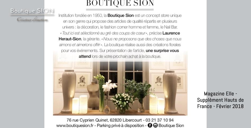 boutique Sion - supplément ELLE